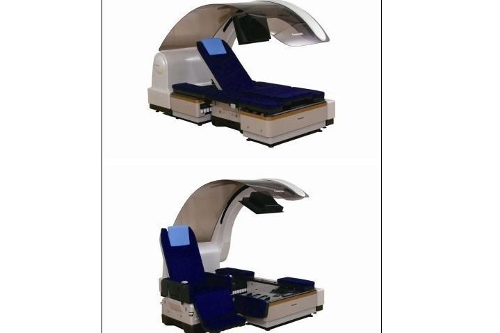 Le prototype de lit médicalisé transormable en fauteuil,... (Photo AFP)