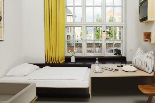 Une chambre de l'hôtel Michelberger...