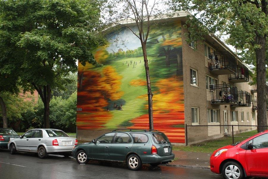 Les murales ont été réalisées sur trois immeubles... (Photo: Martin Chamberland, La Presse)