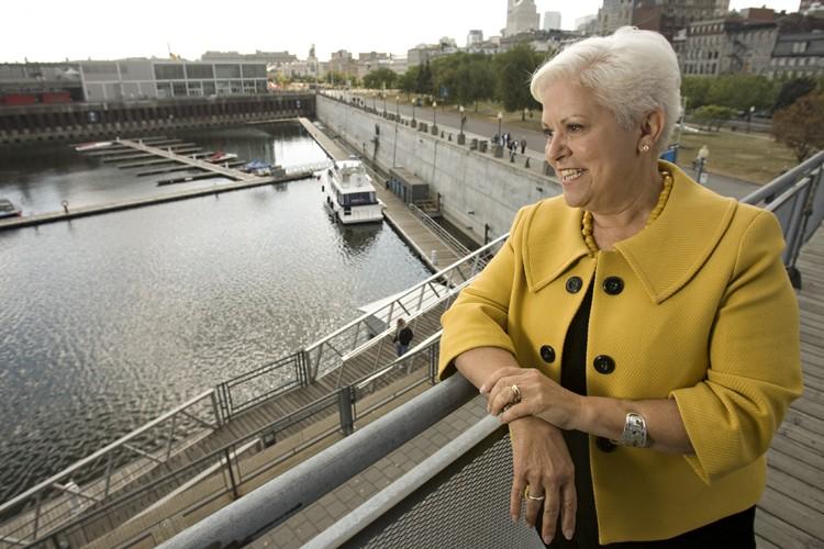 La chef de Vision Montréal, Mme Louise Harel,... (Photo: David Boily, La Presse)