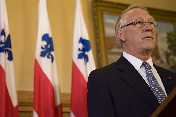 Le maire de Montréal, Gérald Tremblay lors d'une... (Photo: David Boily, La Presse)