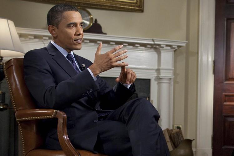 Barack Obama, lors de son entretien au réseau... (Photo: AFP)