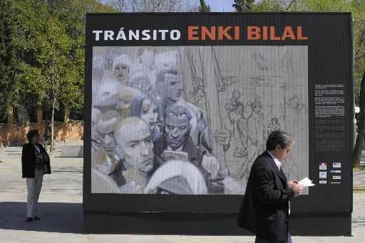 Une image d'Enki Bilal exposée à Madrid en... (Photo AFP)