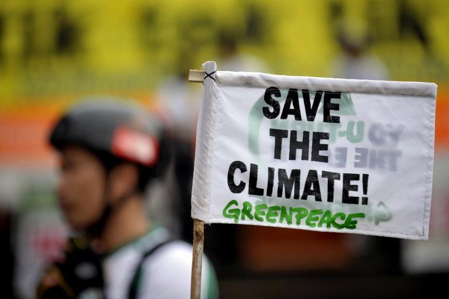 Manifestation pro-environnement à Manille.... (Photo AFP)