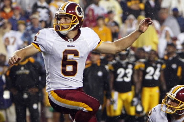 Shaun Suisham en 2009 avec les Redskins... (Photo: AP)