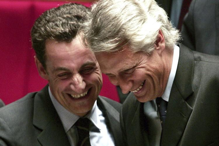 Nicolas Sarkozy et Dominique de Villepin, en 2007.... (Photo: AFP)