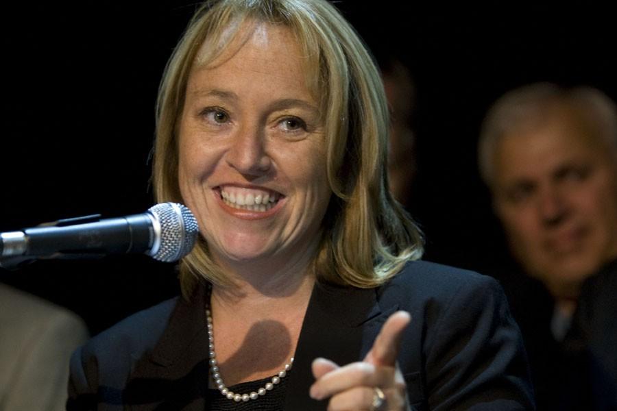 Caroline St-Hilaire, candidate à la mairie de Longueuil,... (Photo: Robert Skinner, La Presse)
