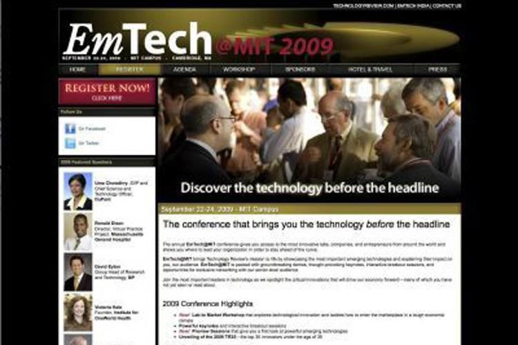 Saisie d'écran du site de la conférence EmTech.... (Photo: AFP)