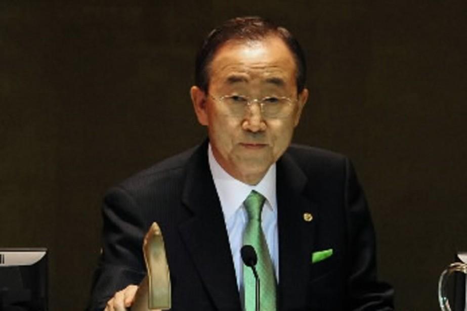 Le secrétaire général de l'ONU, Ban Ki-Moon, a... (Photo AFP)