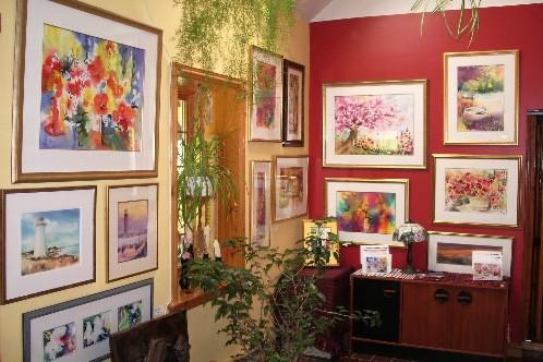 La galerie de Jean Villeneuve aquarelliste, membre signataire... (Photo: fournie par la Tournée des 20)