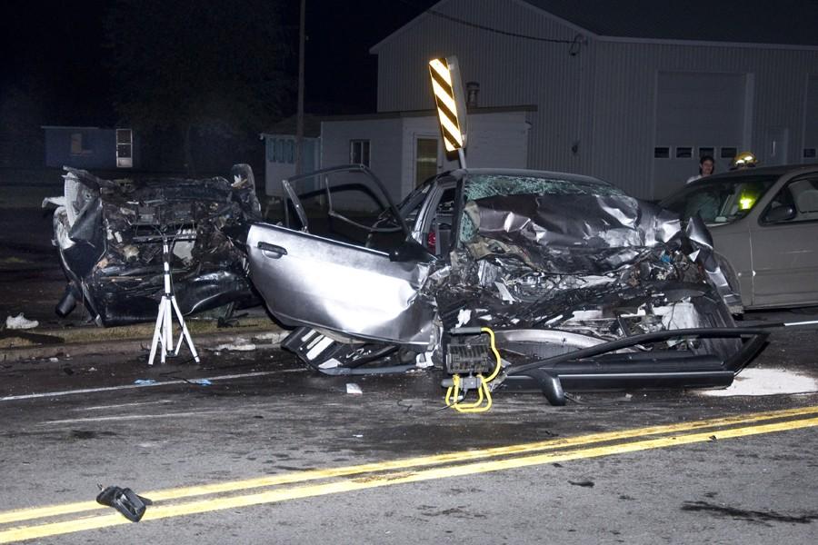 Trois véhicules ont été impliqués dans la collision;... (Photo: jprancourt @dn5, collaboration spéciale)