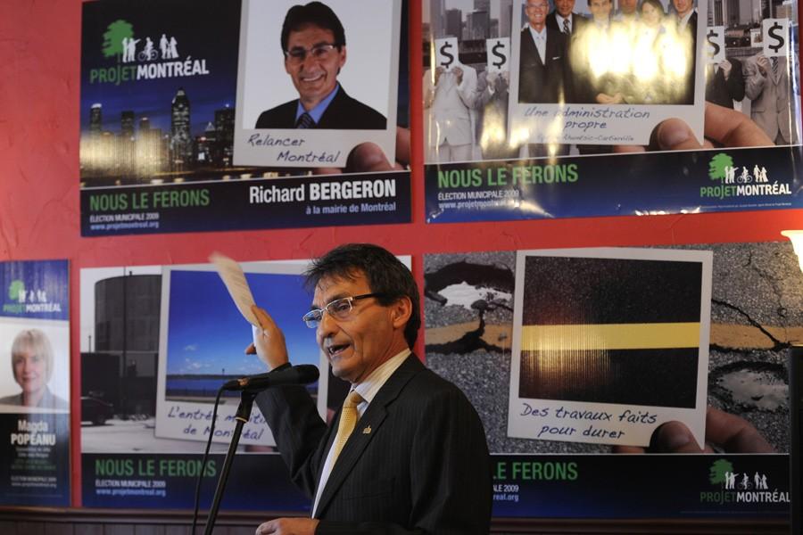 Richard Bergeron, chef de  Projet  Montréal,... (Photo: Bernard Brault, La Presse)