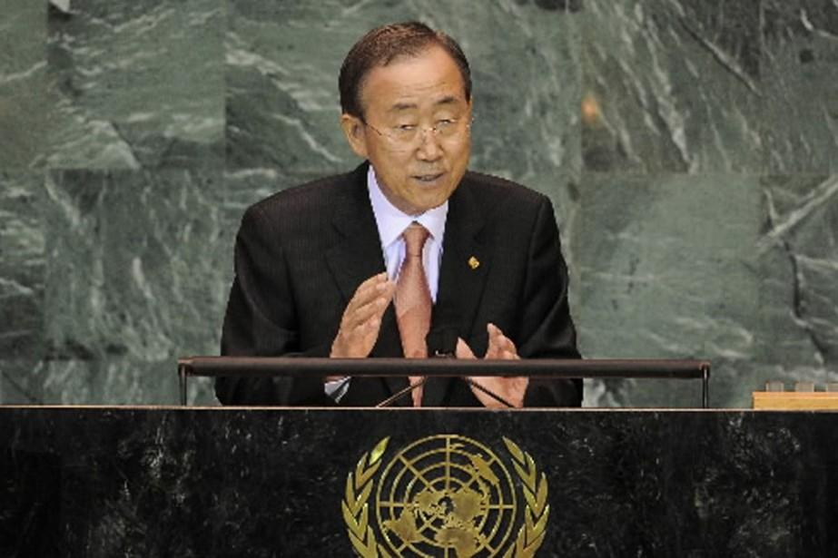 Ban Ki-moon a ouvert mercredi à New York... (Photo AFP)