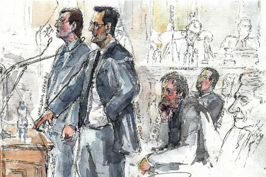 Jean-Louis Gergorin et Imad Lahoud, croqués à vif... (Croquis AFP)