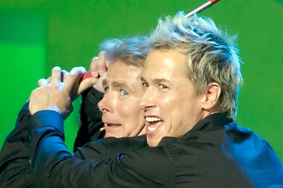 Les humoristes Frank Dubosc et Stéphane Rousseau, qui... (Photo: André Pichette, La Presse)