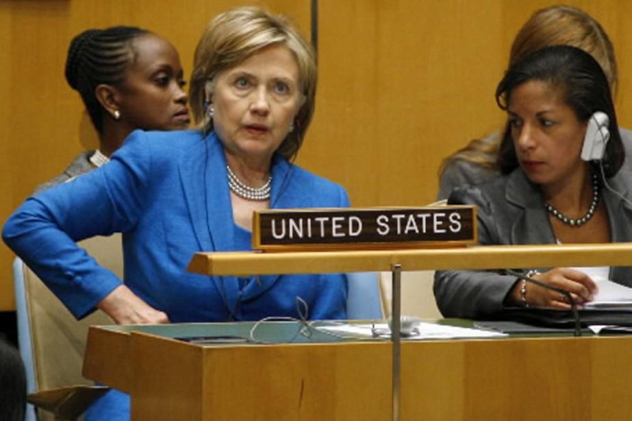 La chef de la diplomatie américaine, Hillary Clinton,... (Photo Reuters)