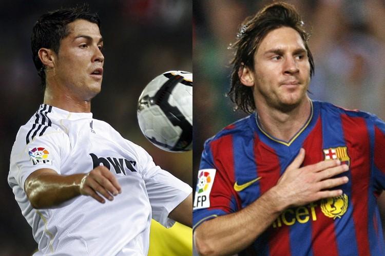 Cristiano Ronaldo, du Real Madrid, et Lionel Messi,... (Photos: AFP)