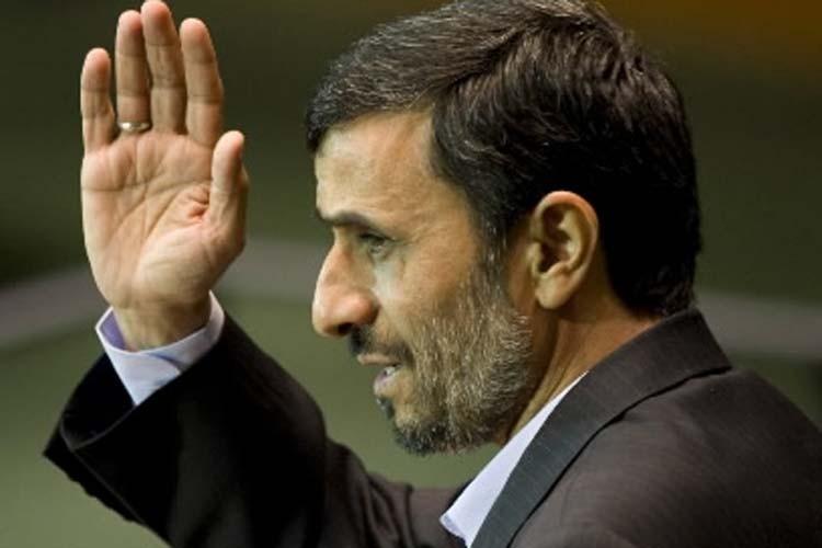 Le président iranien Mahmoud Ahmadinejad lors de son... (Photo: AFP)