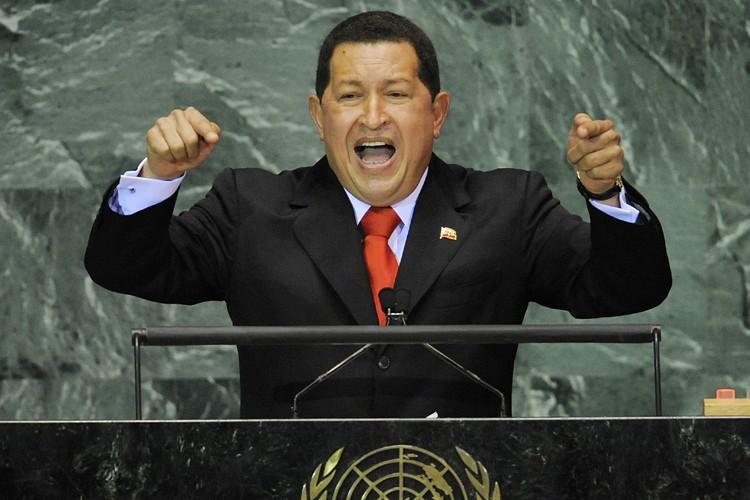 Hugo Chavez lors de son discours à l'ONU.... (Photo: AFP)