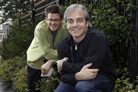 Dominic Champagne et Jean Lemire, initiateurs du projet... (Photo Robert Mailloux, La Presse)