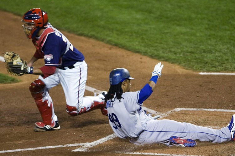 Manny Ramirez a glissé sauf au marbre en... (Photo: AP)