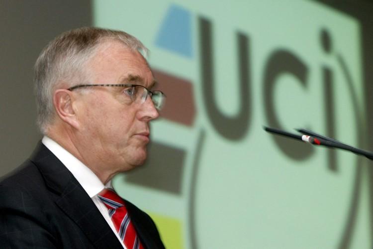 Le président del'Union cycliste internationale,  Pat McQuaid... (Photo: AP)