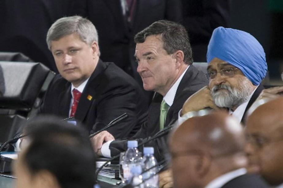 Le premier ministre Stephen Harper au sommet du... (Photo PC)