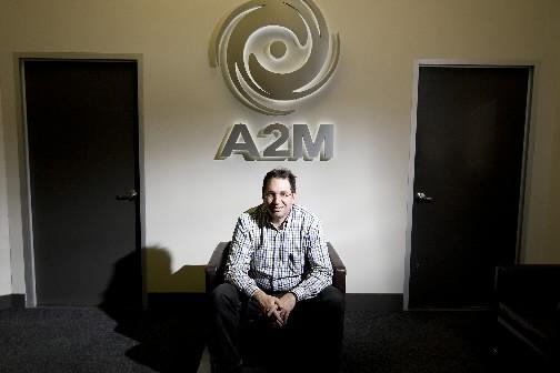 Rémi Racine., président de A2 M... (Photo François Roy, La Presse)