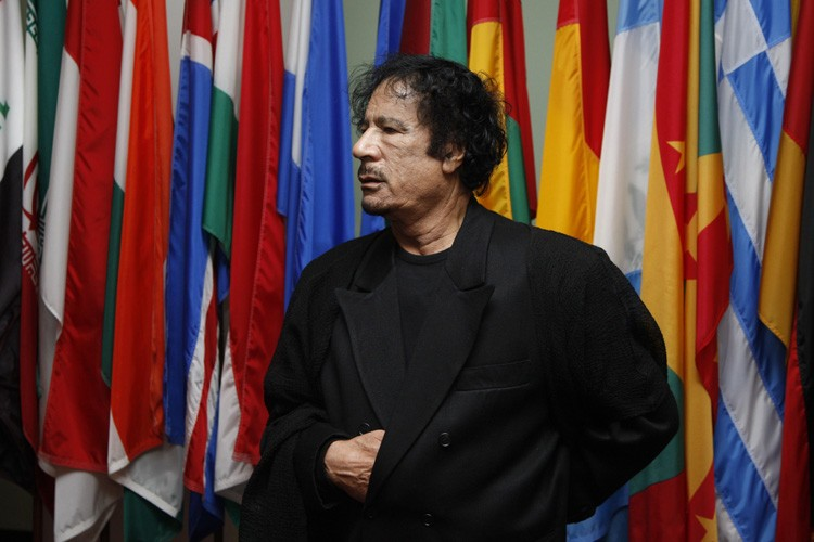 Mouammar Kadhafi est de passage à New York... (Photo: AFP)