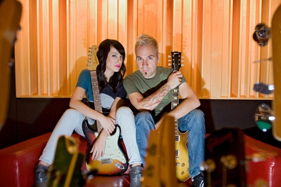 Marie-Mai et Fred Saint-Gelais dans le studio du... (Photo Ivanoh Demers, La Presse)