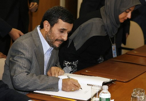 Ahmadinejad a affirmé depuis New York que le... (Photo: Reuters)