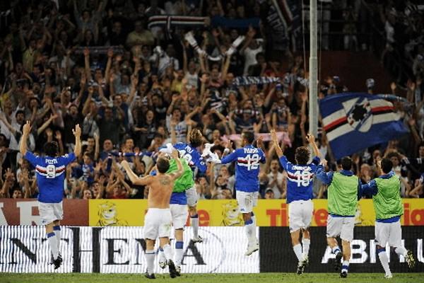 La Sampdoria a confirmé son excellent début de saison et s'est... (Photo: AFP)