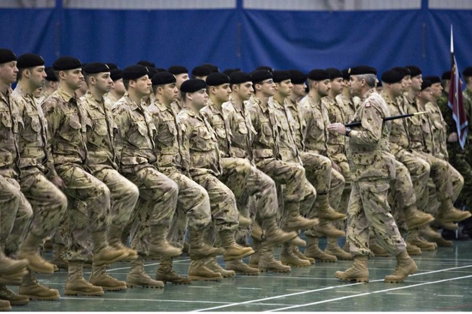 Des soldats de Valcartier en février 2008.... (Archives PC)