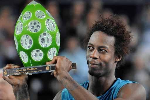 Gaël Monfils a remporté son deuxième titre cette... (Photo AFP)