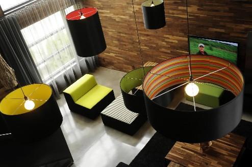 Un des effets les plus spectaculaires du salon... (Photo: Bernard Brault, La Presse)