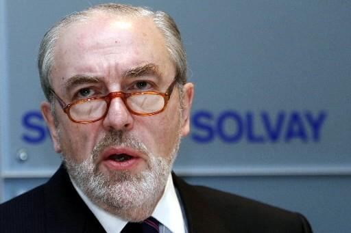 Christian Jourquin, PDG de Solvay.... (Photo Reuters)