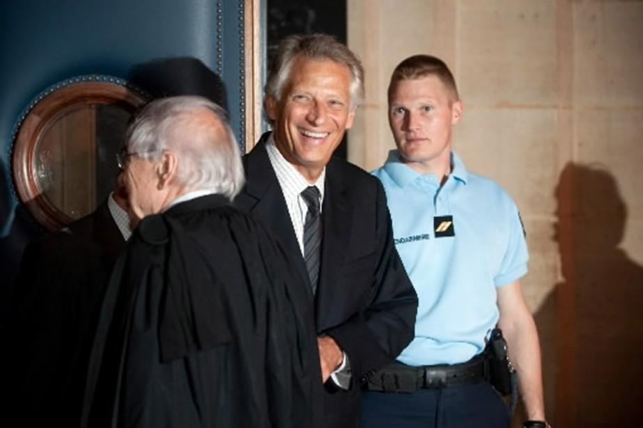 L'ex-premier ministre français Dominique de Villepin, à son... (Photo AFP)