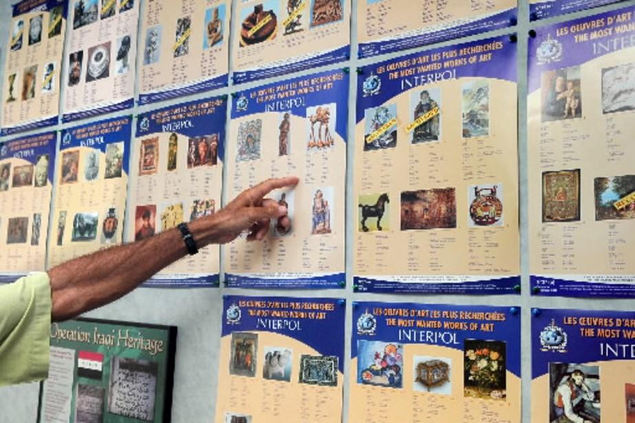 La numérisation du catalogue d'oeuvres volées d'Interpol a... (Photo AFP)