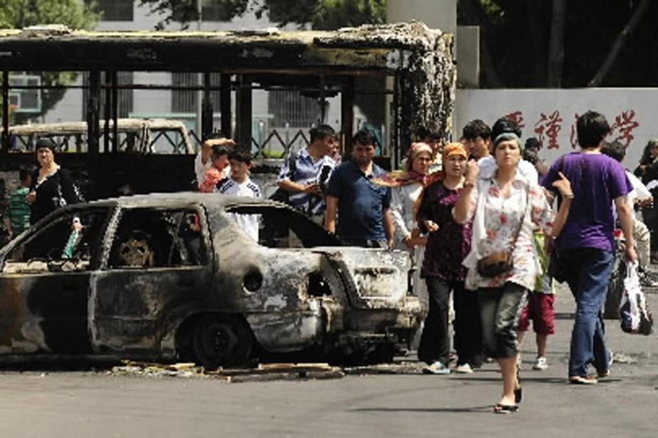En juillet dernier, des troubles ethniques dans la... (Photo archives AFP)