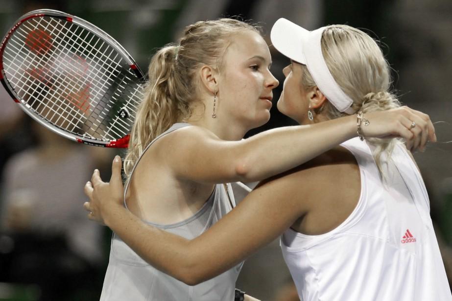 Caroline Wozniacki et Aleksandra Wozniak... (Photo: AP)
