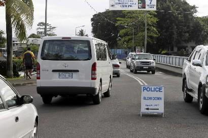 Une voiture sur l'île de Samoa... (Photo: AP)