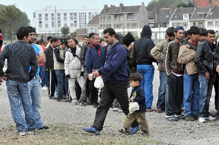 De nombreux migrants afghans sont de retour à... (Photo AFP)