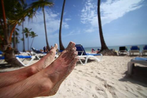 Sur une plage de Punta Cana...... (Photo: David Boily, La Presse)