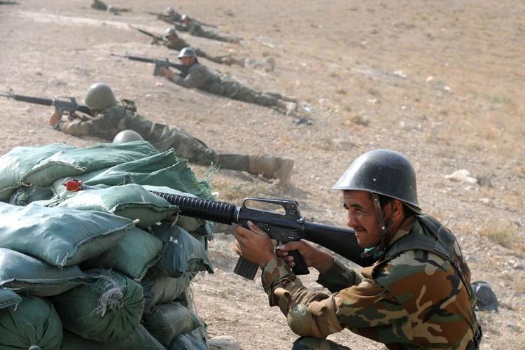 Des soldats de l'armée afghane s'entraînent dans la... (Photo: AFP)