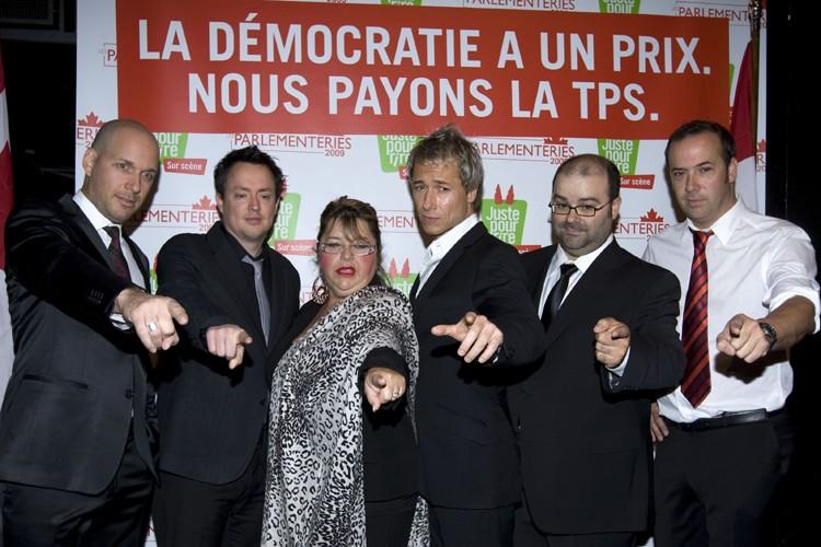 Martin Matte, Mike Ward, Lise Dion, Stéphane Rousseau,... (Photo: Robert Skinner, La Presse)