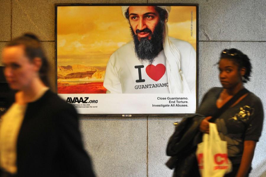 Cette image insolite d'Oussama ben Laden figure sur... (Photo: AFP)