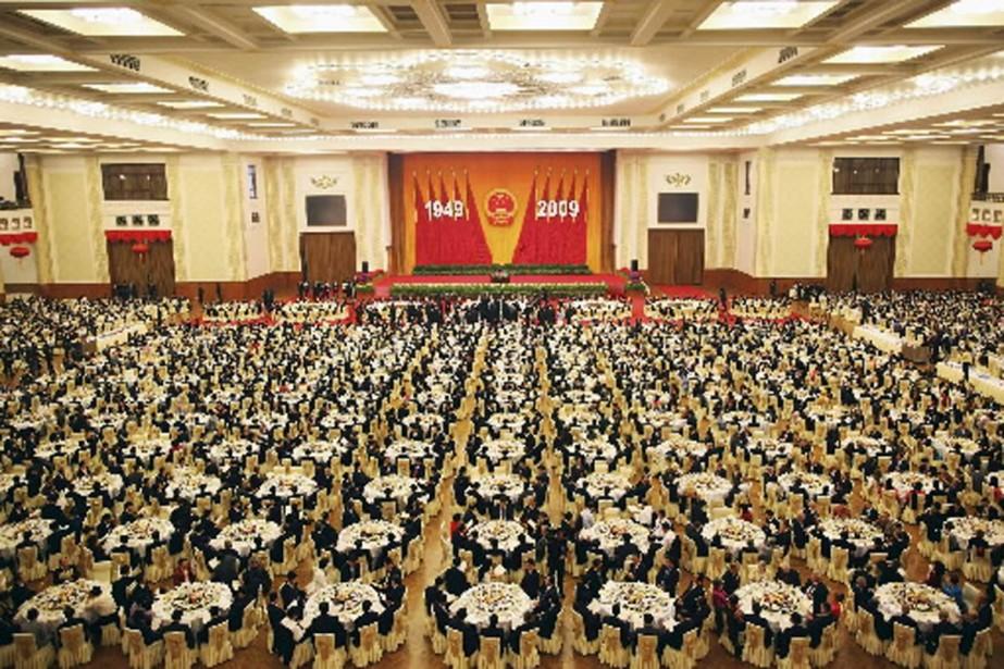 Les dignitaires chinois ont goûté au faste des... (Photo Reuters)