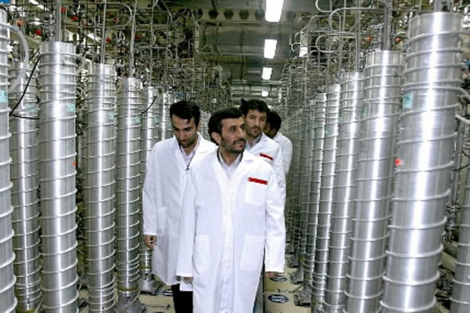 Le président iranien Mahmoud Ahmadinejad, lors d'une visite... (Photo Reuters)
