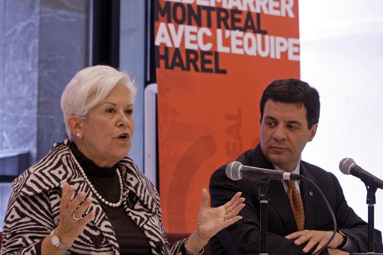 Louise Harel et Benoit Labonté... (Photo: Robert Mailloux, La Presse)