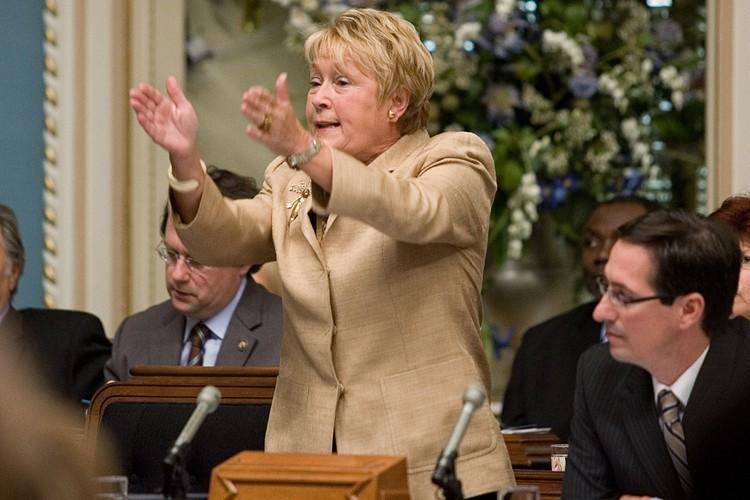 Pauline Marois accuse Jean Charest de manquer de... (Photo: PC)
